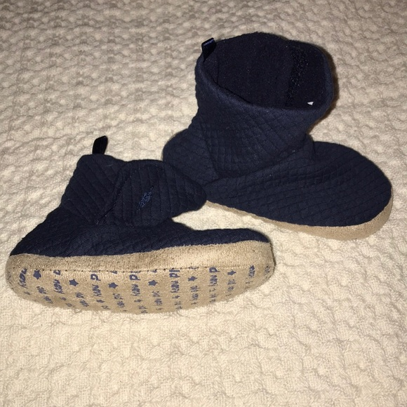 Small Toddler Slippers Quilted Ink Blue